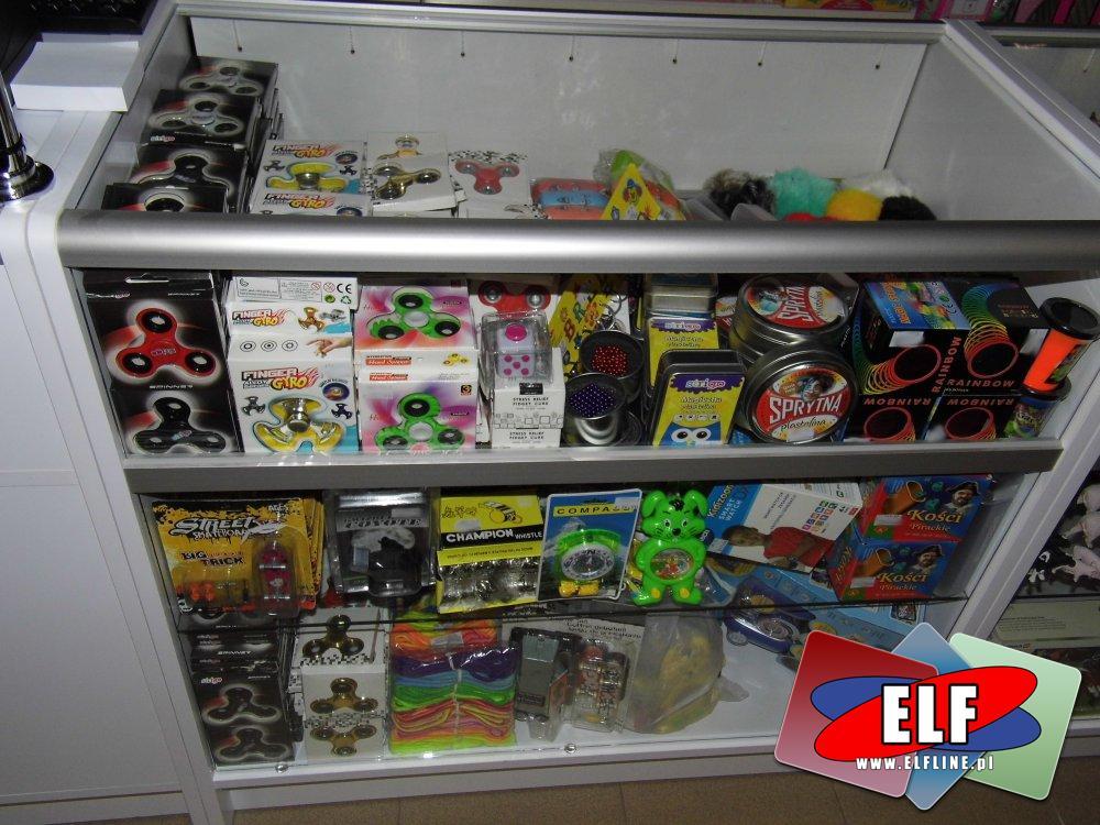 Kulki magnetyczne, Spinnery, Sprytna plastelina, sprężynki i inne zabawki relaksujące
