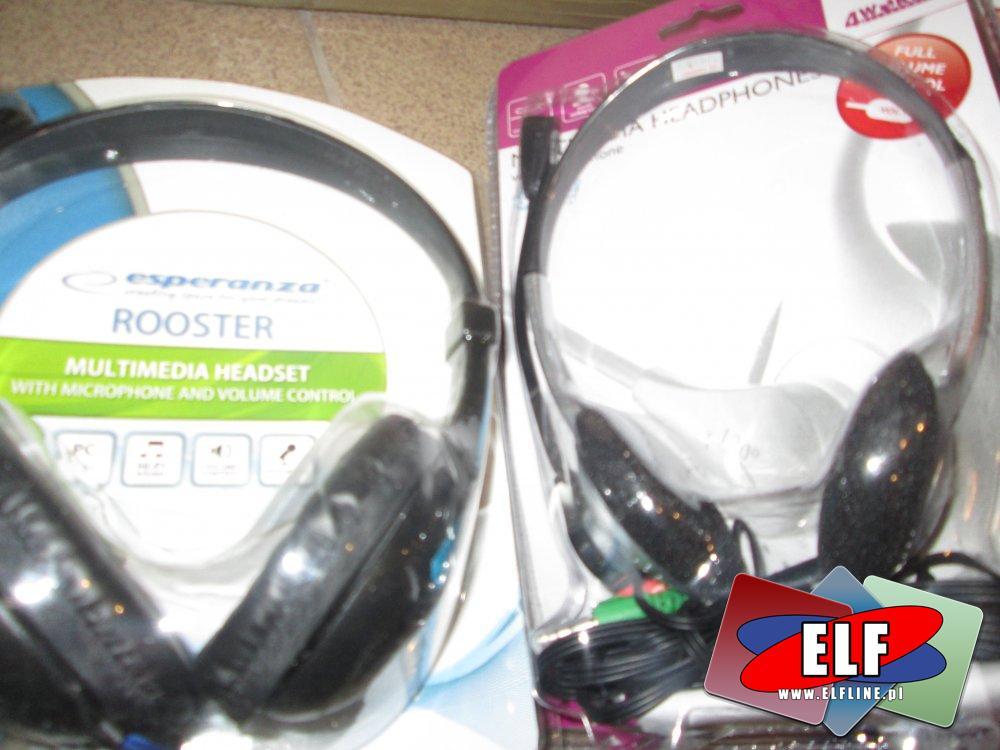 Słuchawki komputerowe, Słuchawka z mikrofonem, Mikrofon, Do komputera, Komputerowe