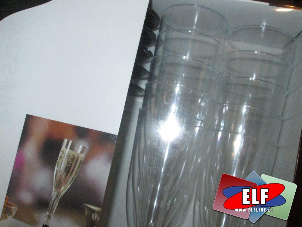 Szampanówki, Plastikowe kieliszki do szampana, kieliszek plastikowy, naczynia jednorazowe