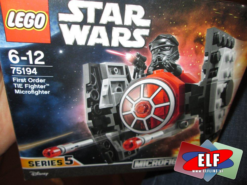 Lego Star Wars, StarWars, 75194 Myśliwiec TIE Najwyższego porządku, klocki