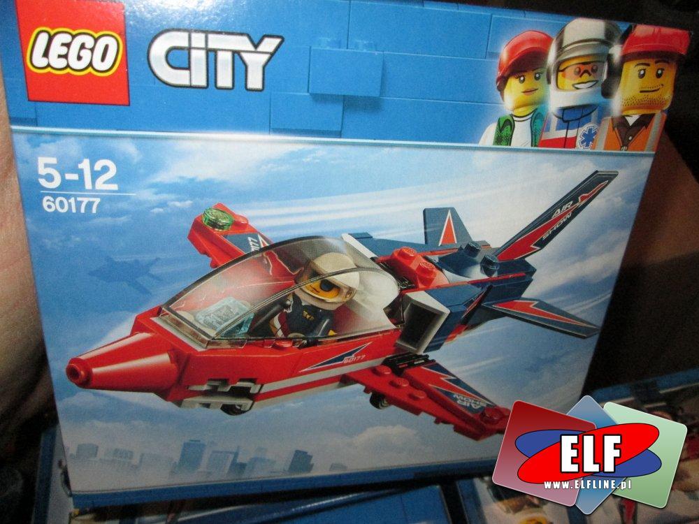 Lego City, 60177 Odrzutowiec pokazowy, klocki
