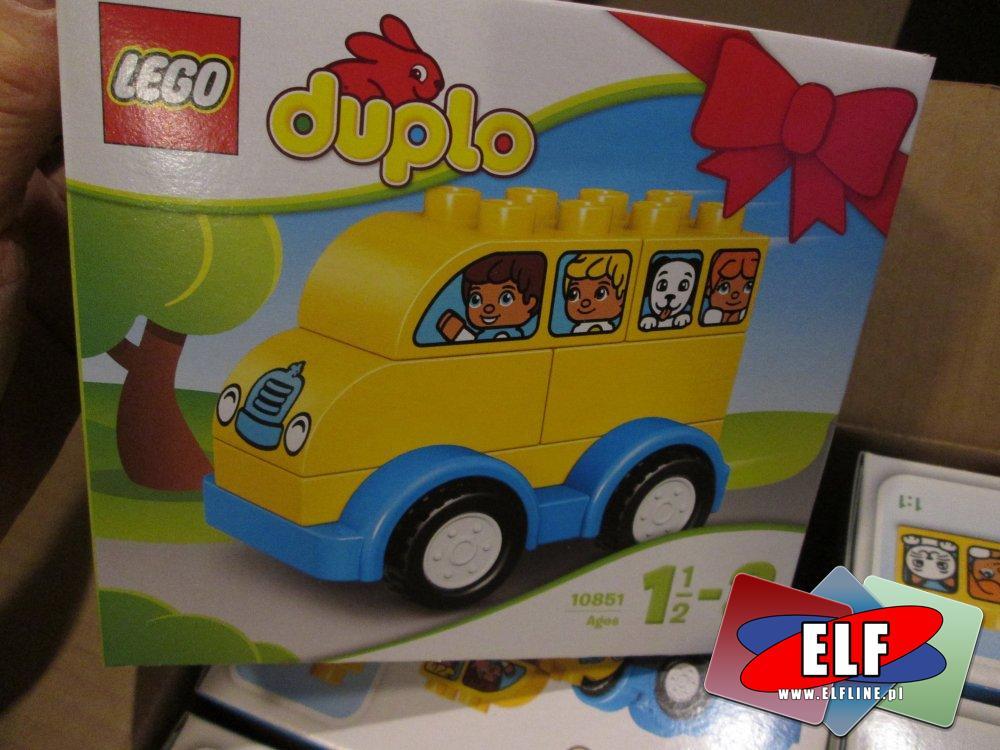 Lego Duplo, 10851 Mój pierwszy autobus, klocki