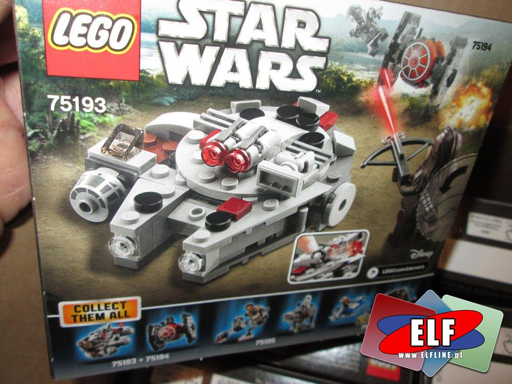 Lego StarWars, Star Wars, 75193 Sokół Millennium, klocki