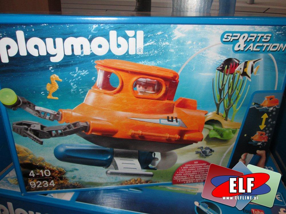 Playmobil Sports&Action, 9234 U-BOOT Łódź podwodna z silnikiem podwodnym, zabawki, klocki