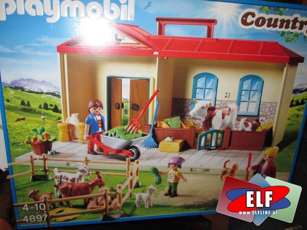 Playmobil 4897 Przenośne gospodarstwo rolne, Klocki, Zabawki