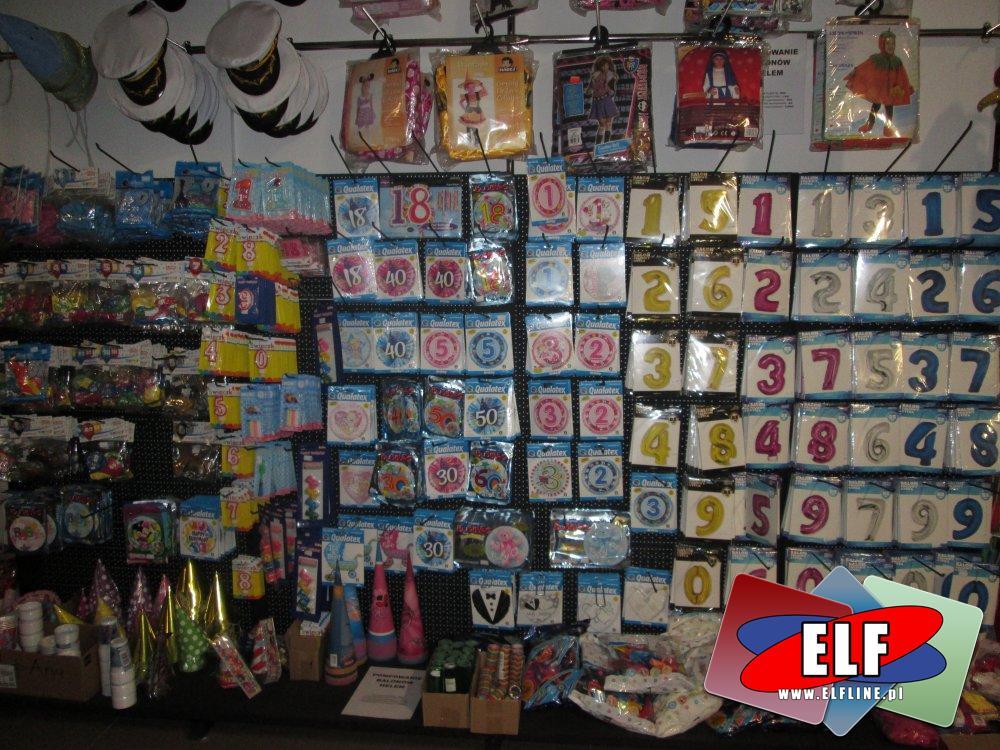 Balony foliowe i zwykłe, Stroje, Pompowanie balonów helem, czapeczki imprezowe, urodzinowe, balowe i inne akcesoria na imprezę