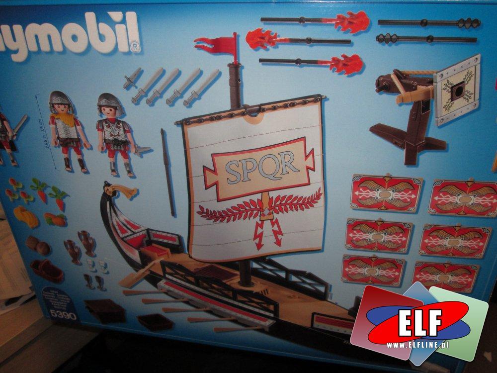 Playmobil History, 5390 Rzymska galera, klocki