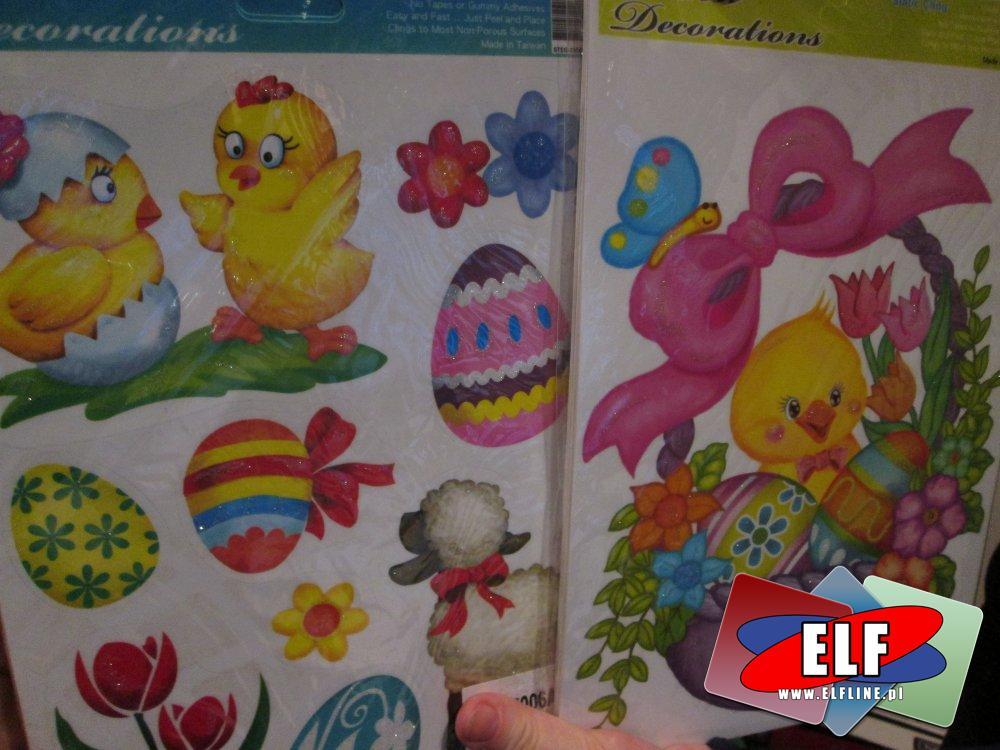 Naklejki świąteczne, kurczaczek, Wielkanocne