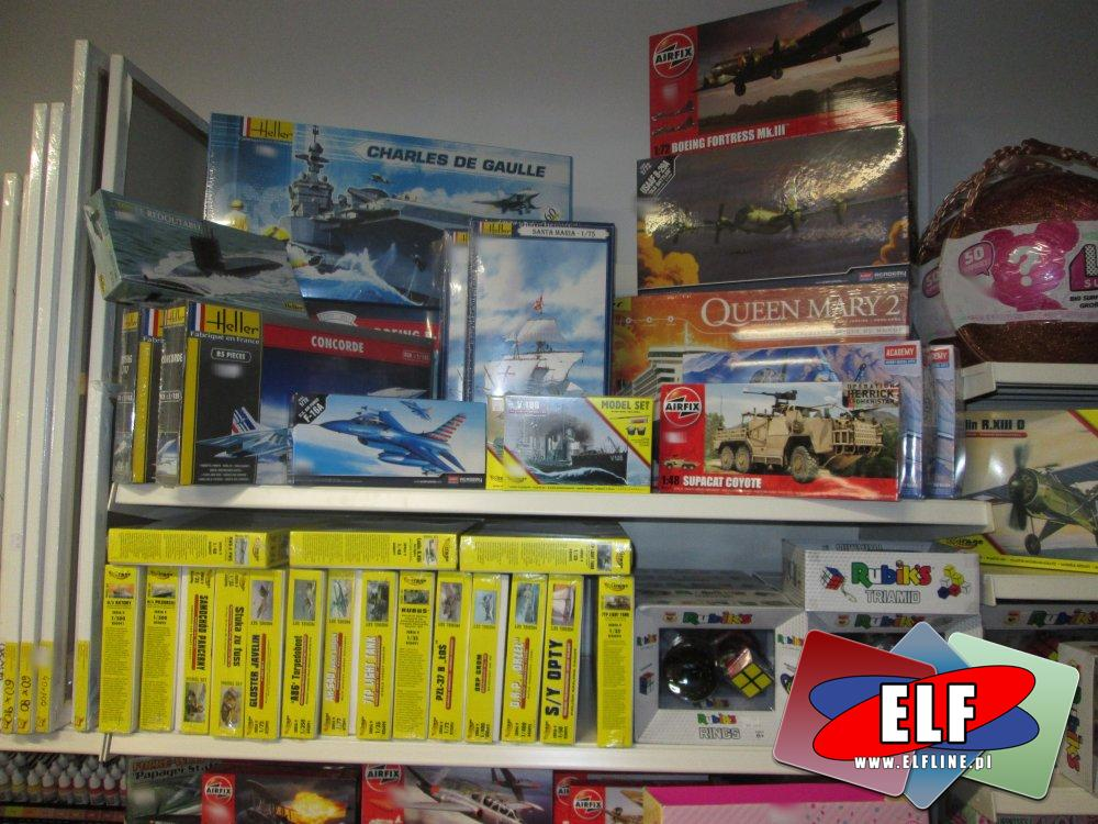 Modele do sklejania, Model sklejany, Samoloty, Czołgi, Statki