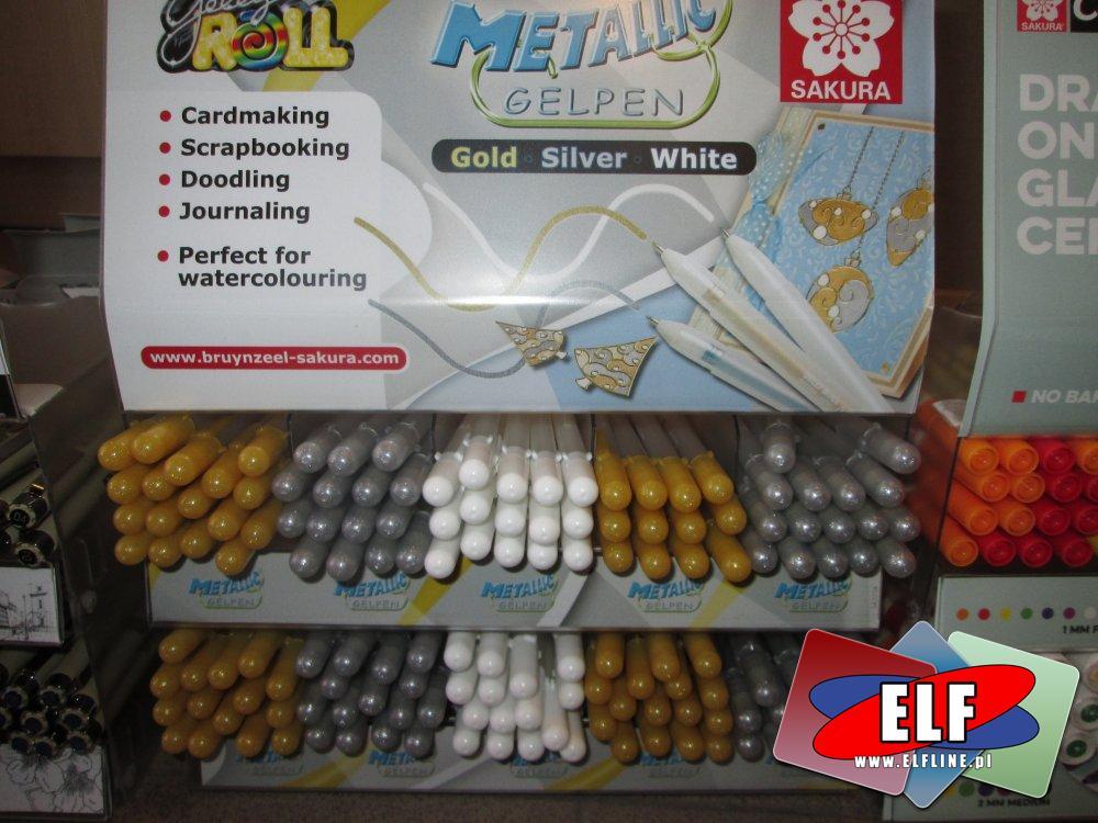 Długopisy żelowe metaliczne, Długopis żelowy, metaliczny