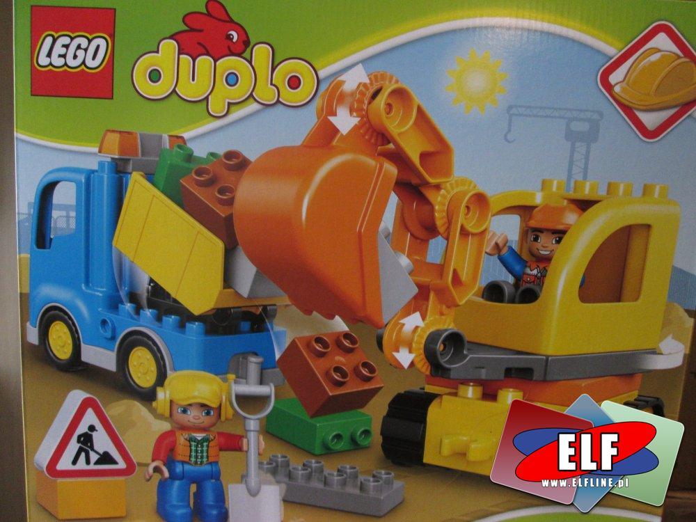 Lego Duplo, 10812 Ciężarówka i koparka gąsienicowa, klocki