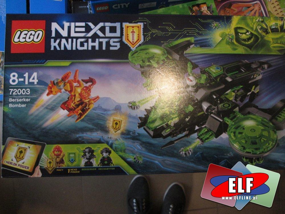 Lego Nexo Knights, 72003 Berserker Bomber, klocki