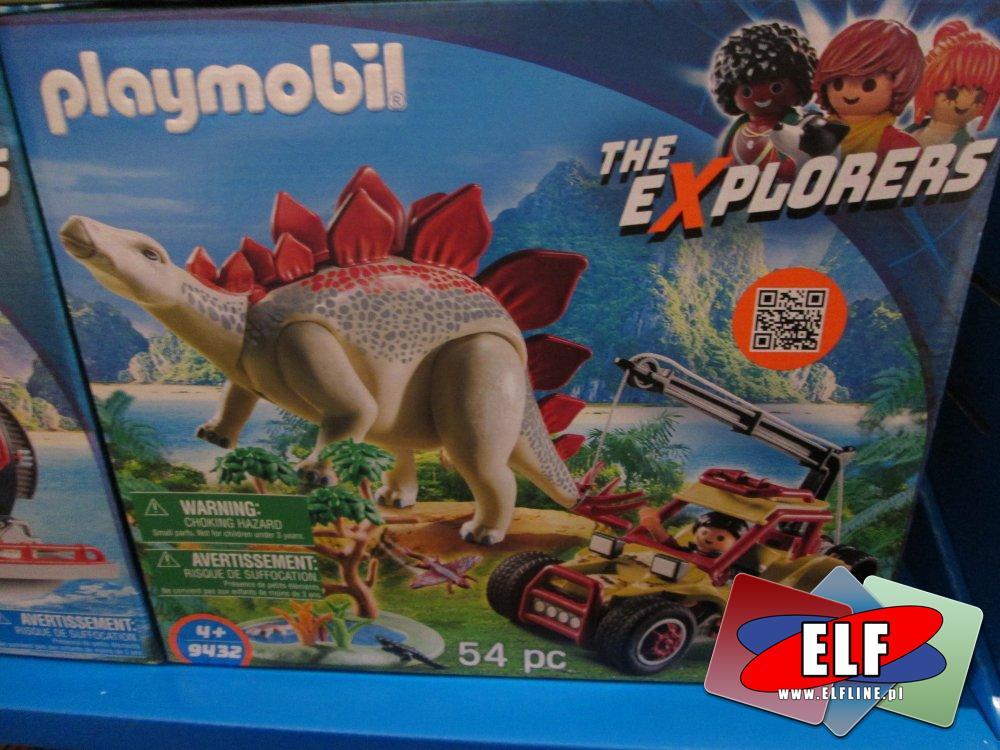 Playmobil 9429 Obozowisko z T-Rexem, 9432 Pojazd badawczy ze stegozaurem,  9434 Samochód terenowy z działającą wyrzutnią sieci, 9430 Helikopter...