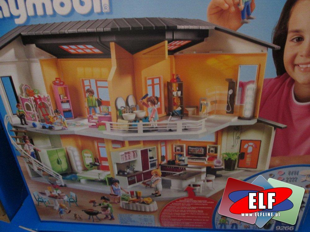 Playmobil, 9272 Przyjęcie w ogrodzie, 9267 Salon, 9266 Nowoczesny dom, klocki, zabawki