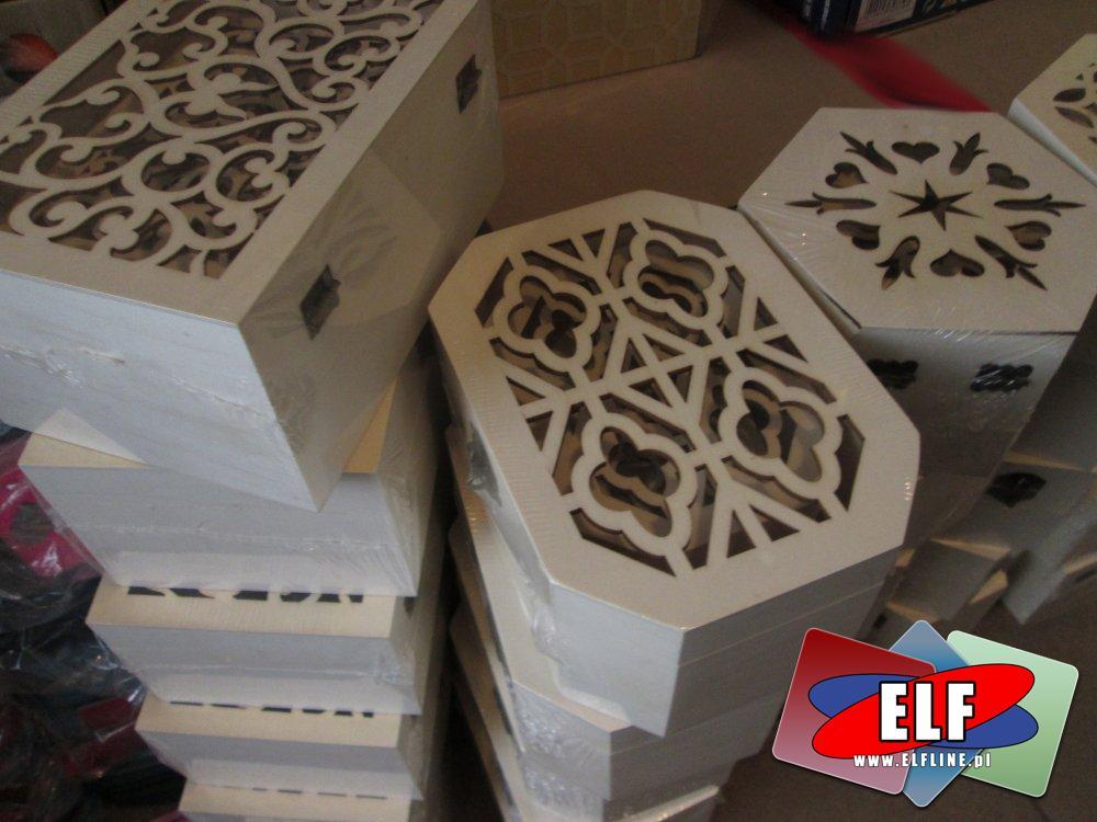 Drewniane pudełka i szkatułki do ozdabiania dla artystów, plastyków i nie tylko