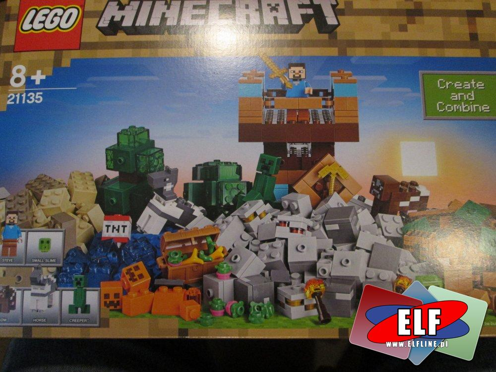 Lego Minecraft, 21135 Kreatywny warsztat 2.0, 21134 Baza pod wodospadem, klocki