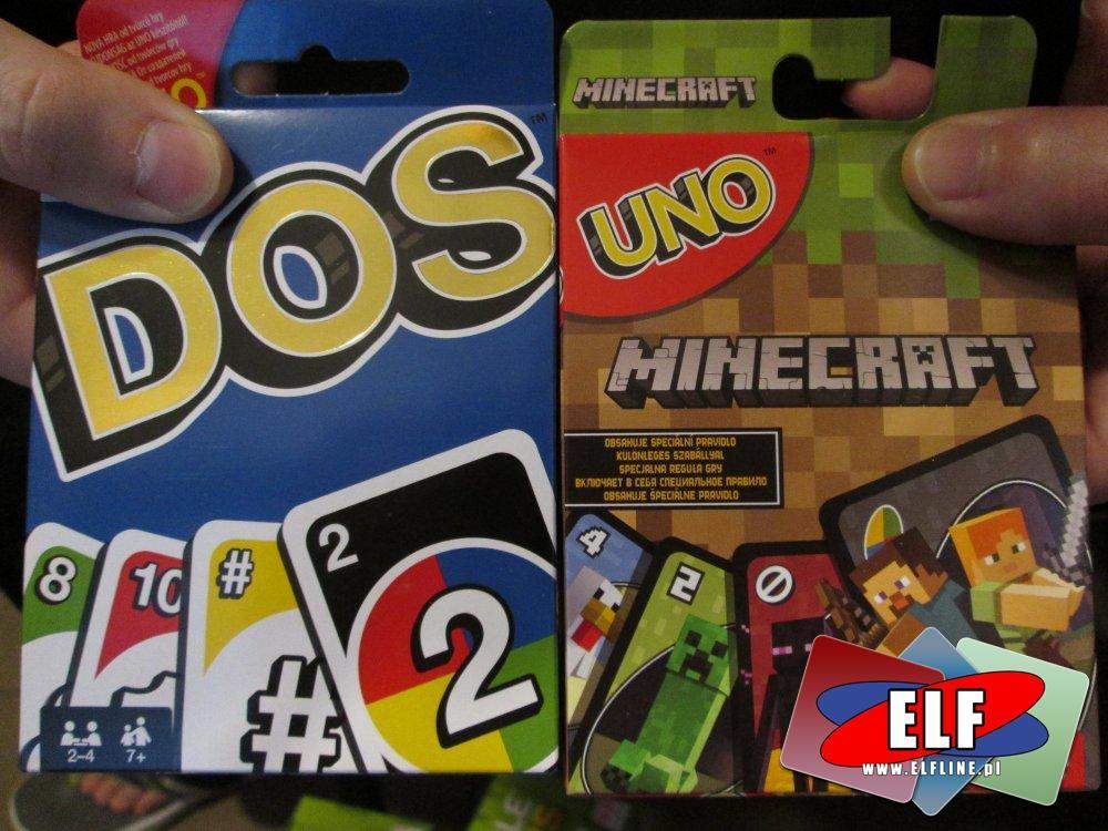 Uno, Karty DOS i Minecraft