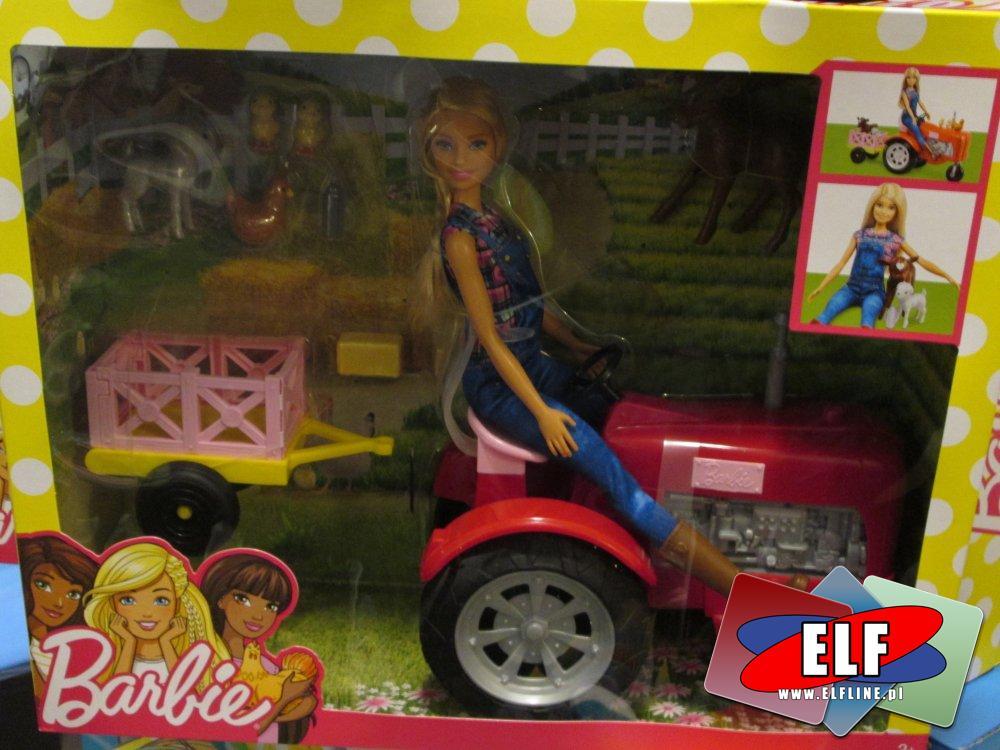 Barbie na traktorze, lalka, lalki