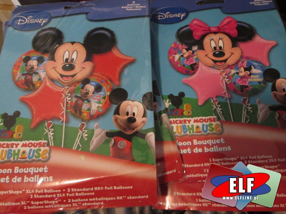 Balony do napełniania Helem i powietrzem, Micky Mouse i inne