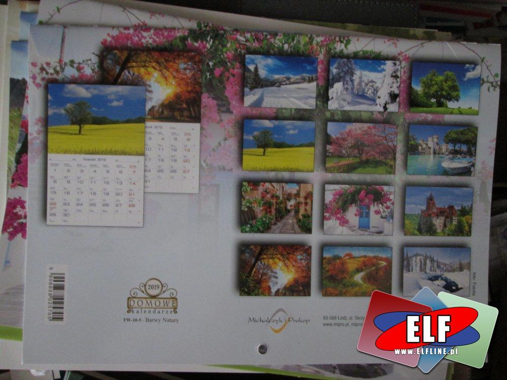 Kalendarze 2019, Kalendarz na rok 2019