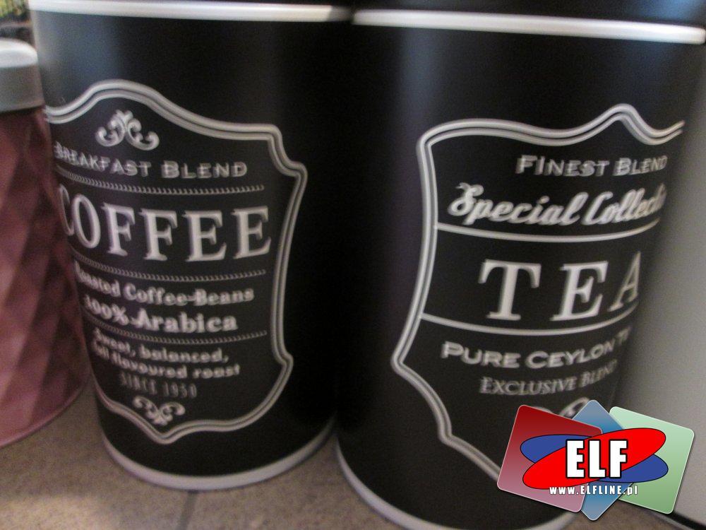 Puszka na kawę, herbatę, puszki na herbatę i kawę