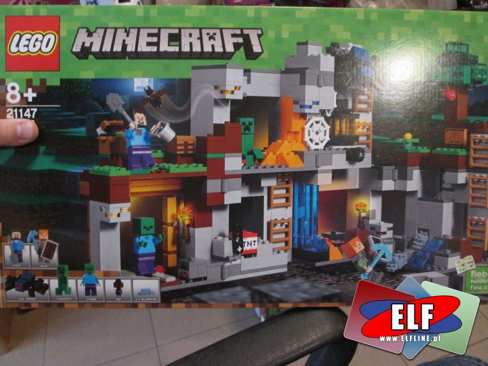 Lego Minecraft, 21147 Przygody na skale macierzystej, klocki