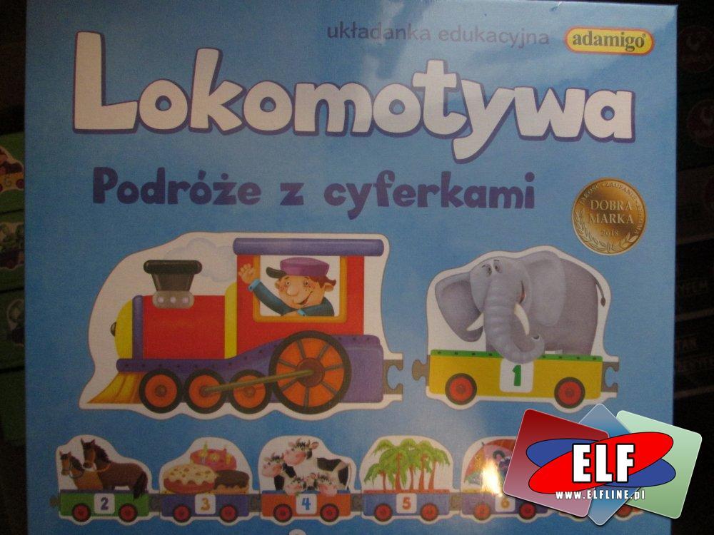 Gra edukacyjna Lokomotywa, Podróże z cyferkami, Gry