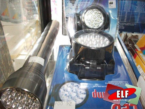 Latarki LED z laserem i bez, latarka