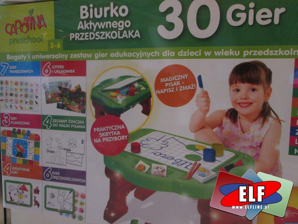 Biurko Aktywnego Przedszkolaka, Zabawka edukacyjna, zabawki edukacyjne, kreatywne, kreatywna, Gra, Gry