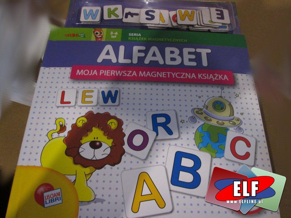 Alfabet, Moja pierwsza magnetyczna książka, książki edukacyjne dla dzieci, książeczka edukacyjna