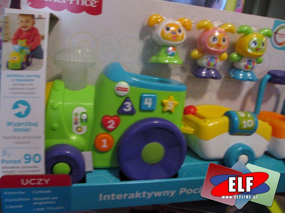 Fisher-Price Interaktywny Pociąg BeBo, zabawki interaktywne, edukacyjne, zabawka edukacyjna, interaktywna