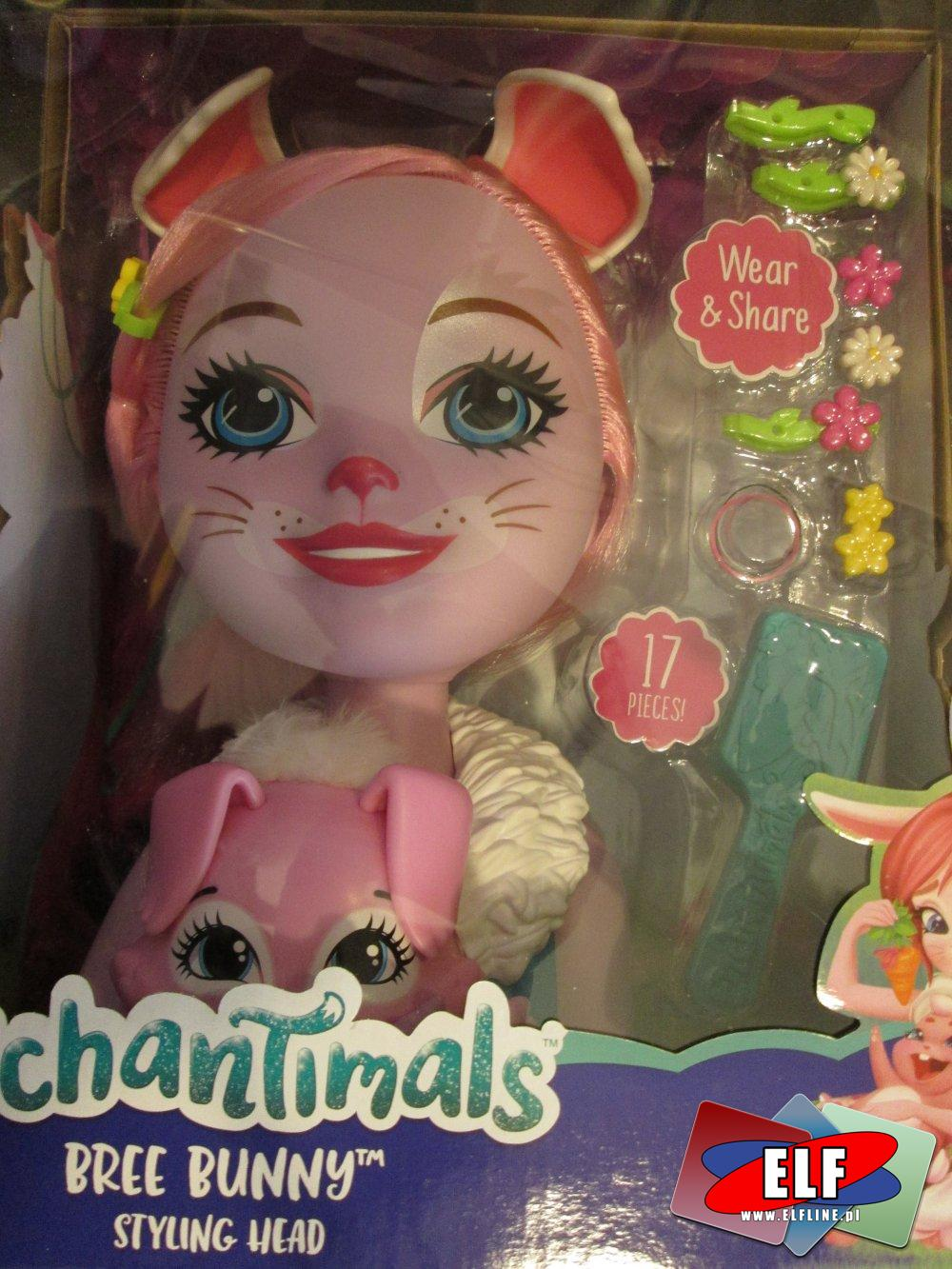 Głowy do czesania i stylizacji Enchantimals, lalka, lalki