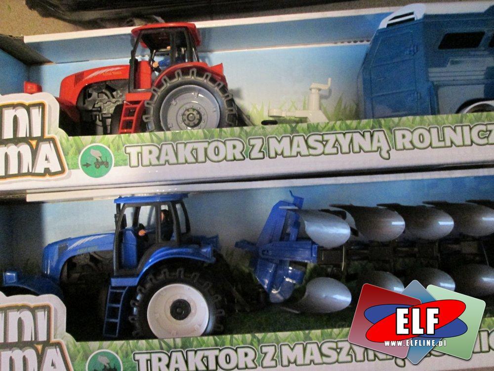 Traktor z maszyna rolniczą, traktory, maszyny rolnicze