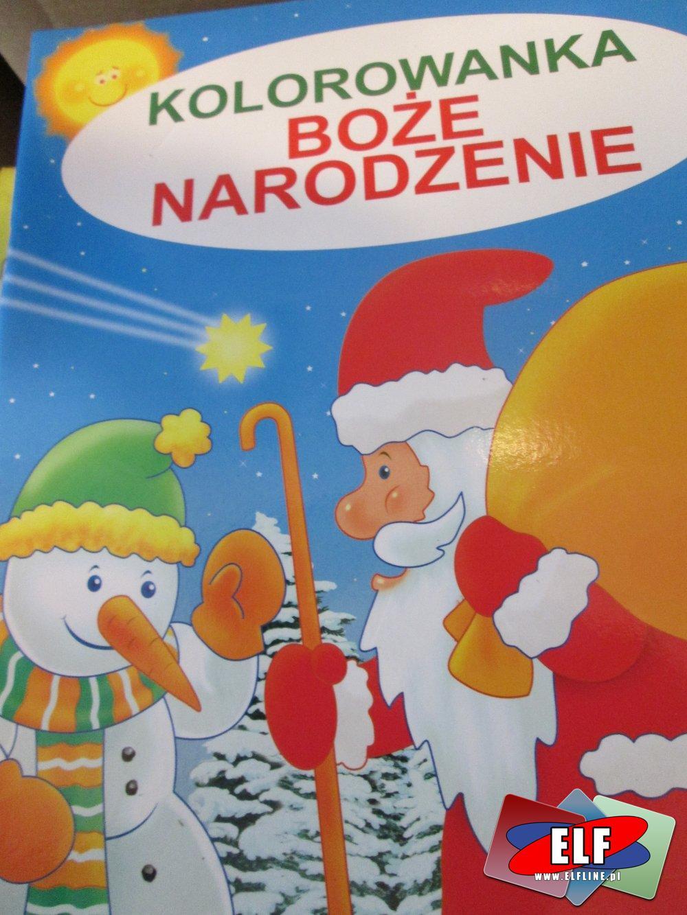 Kolorowanki, Kolorowanka Boże Narodzenie