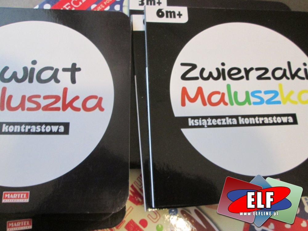 Książeczka Kontrastowa, Zwierzaki Maluszka, Książeczki edukacyjne dla najmłodszych, książka, książki