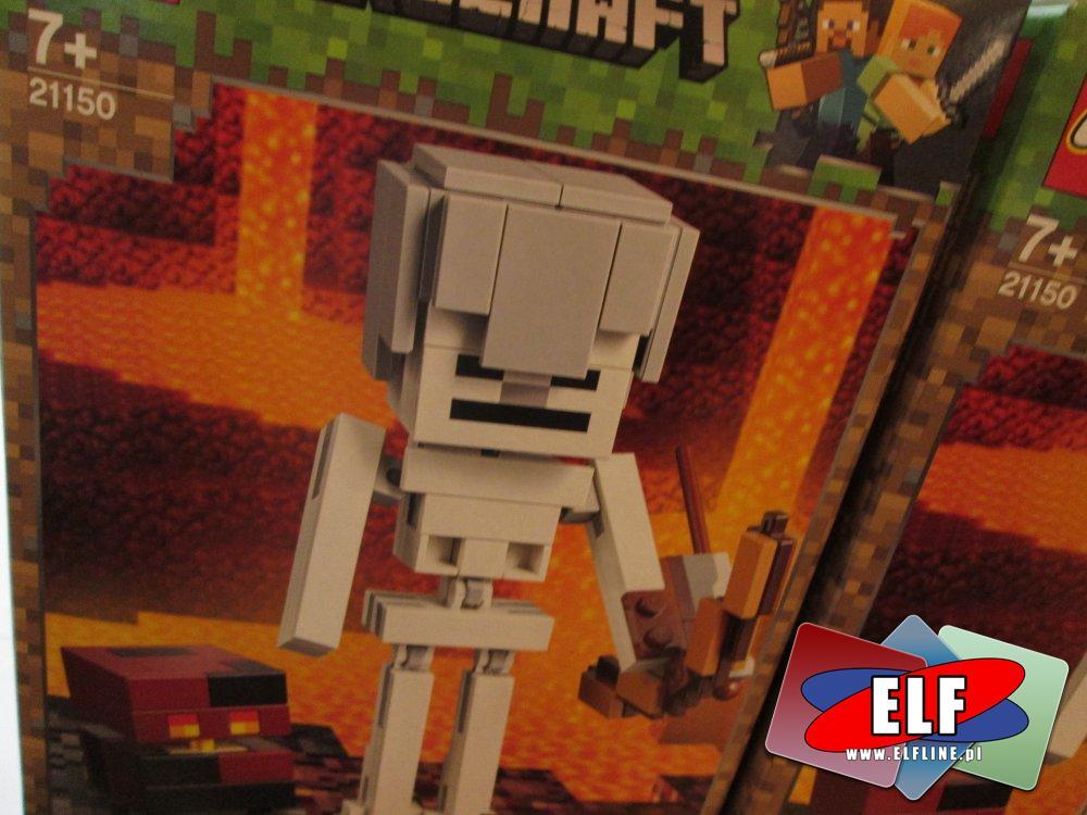 87c652d27 Lego Minecraft, 21150 Minecraft BigFig, szkielet z kostką magmy, klocki