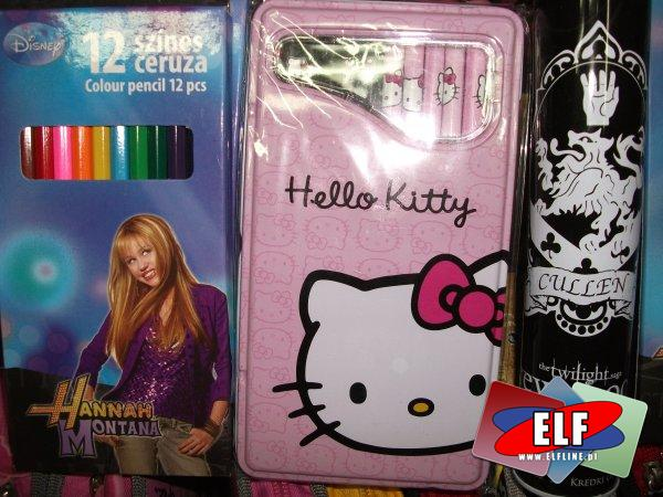 Kredki ołówkowe, hannah montana, hello kitty, twilight, new moon
