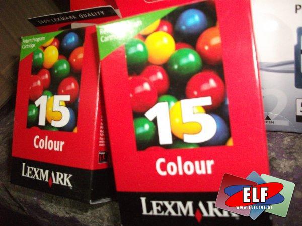 Tusz, tusze lexmark NO 15, kolor, color