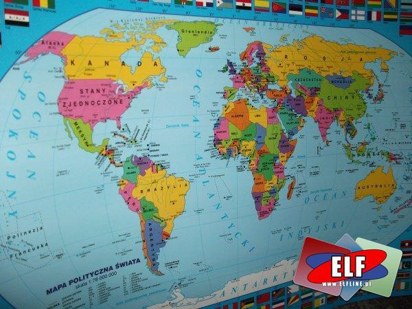 Podkładki edukacyjne na biurko, podkłady na biurko, mapy, edukacyjne