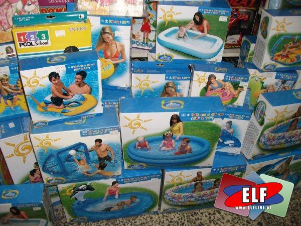 Baseny, zabawki plażowe