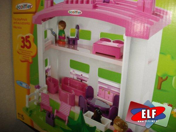 Domek dla lalek, domeczek dla laleczek małych, 35 elementów, części, domek dla lalek, lalki, domki, lale, dom, domy, lalka, lala, lale