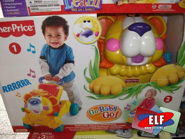 Chodzik lew fisher price