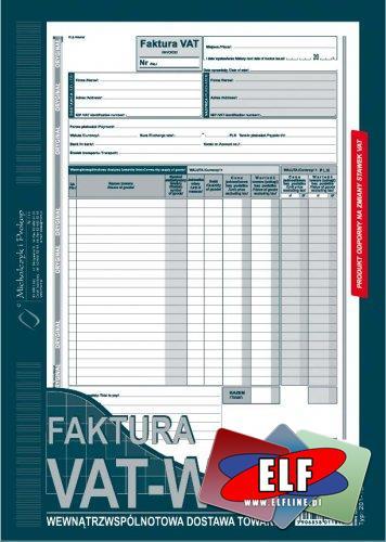 Faktura VAT WDT, wewnątrzwspólnotowa dostawa towarów