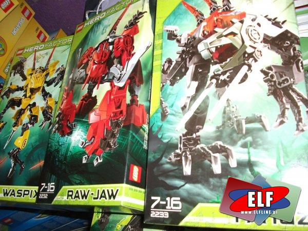 Lego heroe factory, 2236 SCORPIO V29, 2231 WASPIX V29, 2232 RAW-JAW V29, 2233 Fangz V29
