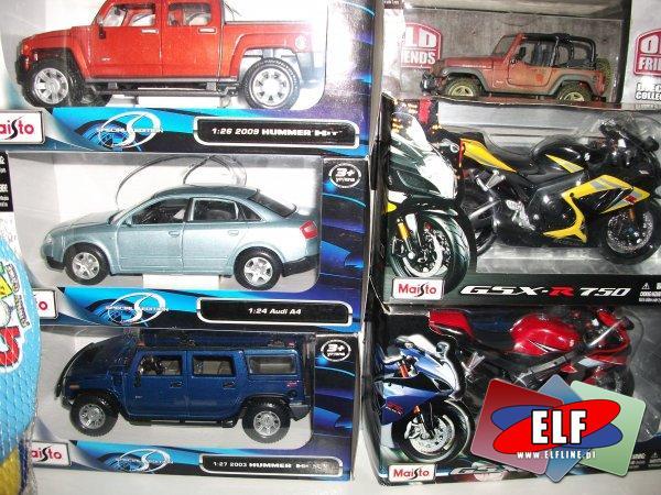 Motory i samochody metalowe