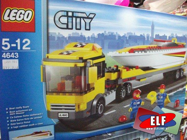 Lego city transporter motorówek 4643, klocki