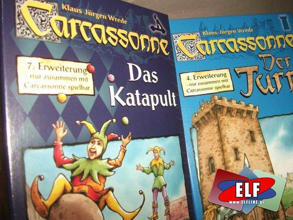 Gra carcassonne dodatki, rozszerzenia 4 wieża, 7 katapulta, dodatek, rozszerzenie, gry