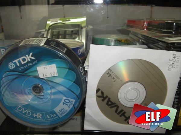 Płyty CD i DVD, kasety do drukarek, klawiatury