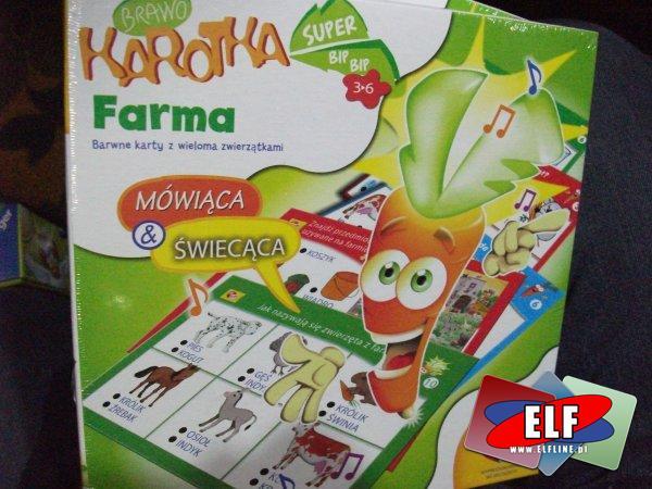 Gra brawo karotka mówiąca, swiecąca, cyfry, farma, gra dla najmłodszych, gry