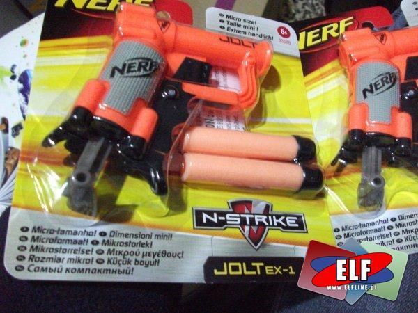 Nerf, pistolet, pistolety, n-strike, jolt ex-1, karabin, karabiny